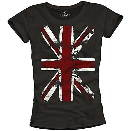 dia del orgullo friki Union Jack - Camiseta con bandera de inglaterra para mujer