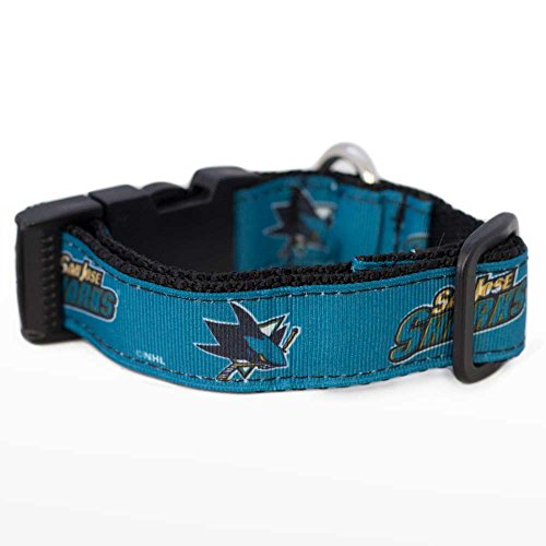 All Star Dogs NHL San Jose Sharks Hundehalsband, groß, Schwarz