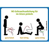 4x WC Gebrauchsanleitung für Im Sitzen pinkeln - Wie man's macht und wie nicht @immi.de