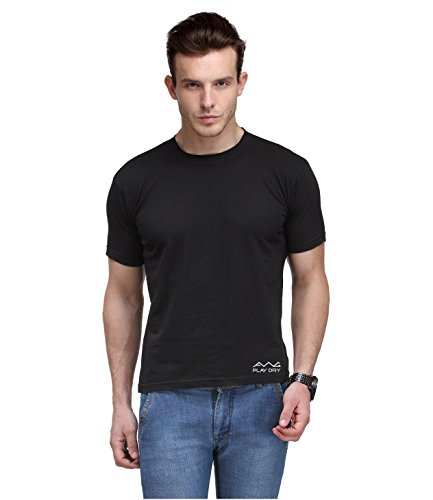 AWG Men's Jersey Round Neck Black Dryfit Polyester T-shirt - MFN-AWGDFT-BL-L