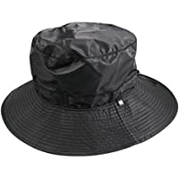 Shaped Waterproof Bucket Hat Black