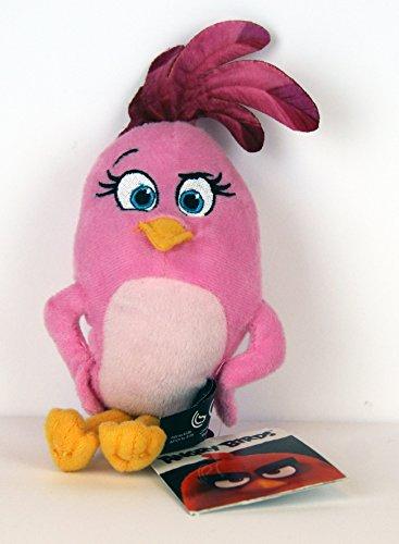 Angry Birds - Plüschtier - mit Anhänger / Clip / Schlüsselanhänger - Stella - ca. 22cm / für Rucksack, Schulranzen, Schultasche -