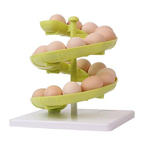 EVANA Egg Run Basket Egg Dispenser Holder for Medium to Large Eggs (Multicolor)