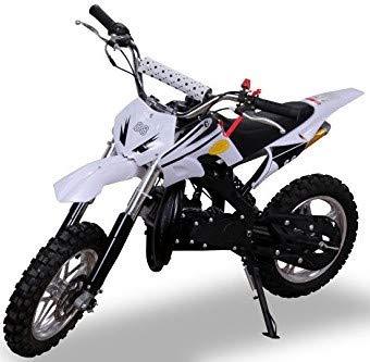 Kinder Mini Crossbike Delta 49 cc 2-takt Dirt Bike Dirtbike Pocket Cross (Weiß)