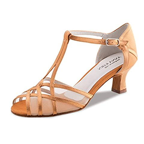Anna Kern - Femmes Chaussures de Danse 540-50 - Satin Bronze - 5 cm [UK 2.5]