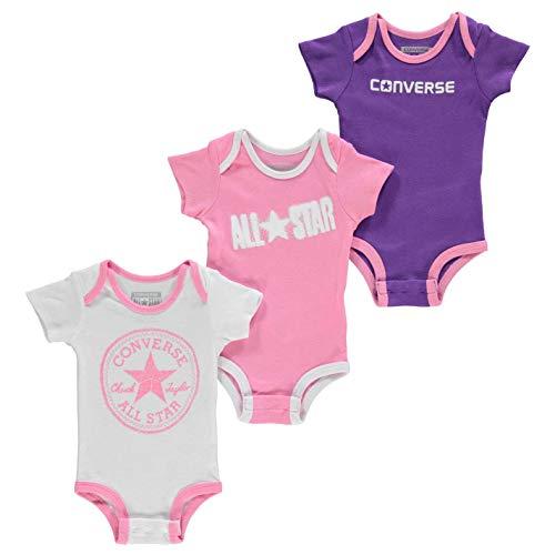 Converse 0-6 Monate Alter Neugeborene Mädchen Sommer 3 Pack Strampler Body Top Fashion Geschenk