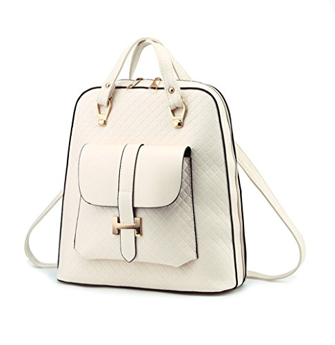 sdwqedftg Ms. Bag Schultertasche Fashion Handtaschen Korean Tidal Rucksack College Wind PU Leder Reisetasche