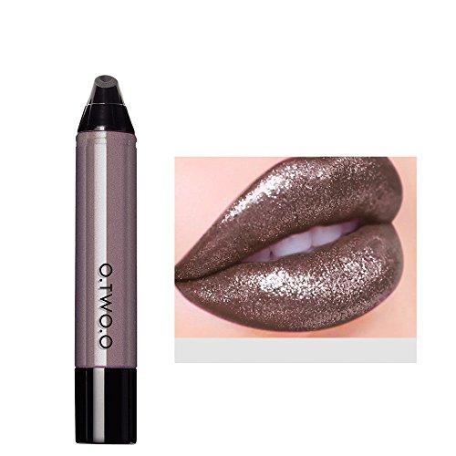ouge à lèvres Liquide,Lonshell Imperméable velours mat rouge à lèvres Gloss 12 Couleurs (12#)