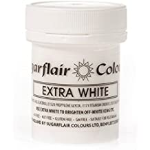 Sugarflair Spectral Concentrated Paste Food Colouring :: Perfect for all Cakes & Cupcakes - White Extra (Large Pot) by Sugarflair