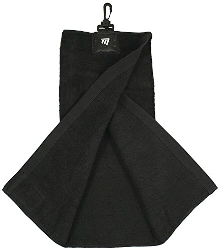 Masters Golfhandtuch Tri-Fold Towel Schwarz (Golf-masters-patch)