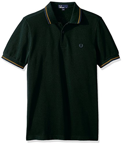 Fred Perry Twin Tipped Shirt, Polo Homme, Vert (Green E02), Medium