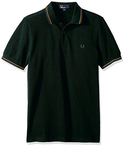 Fred Perry Twin Tipped Shirt, Polo para Hombre, Verde (Green E02), XX-Large (Tamaño del Fabricante:XXL)