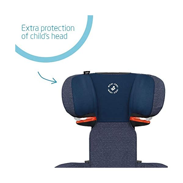 Maxi-Cosi RodiFix AirProtect Child Car Seat, ISOFIX Booster Seat, Extra Protection, 3.5-12 Years, 15-36 kg, Sparkling Blue Maxi-Cosi Outstanding side impact protection - with the combination of patented air protect technology Patented air protect technology in headrest - the risk of head and neck injuries are reduced up to 20% Quick and easy to buckle your child up with the 'easy-glide' system and clear belt routing 3