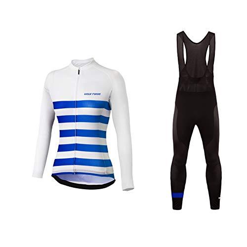 Uglyfrog Radfahren Kleidung Damen Radfahren Langarm Radfahren Jersey Winter with Fleece eine Menge Farben Antislip Ärmel Cuff Road Bike MTB Top Riding Shirt
