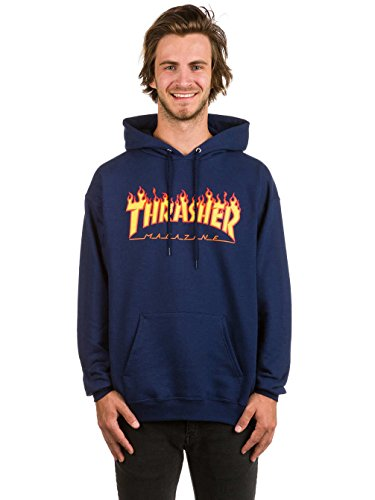 Thrasher - thrasher sweat hood flame navy - l