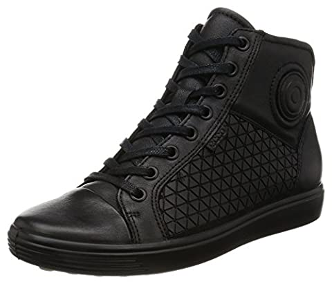 Ecco Damen Soft 7 Ladies High-Top, Schwarz (55351black/Black), 39 EU