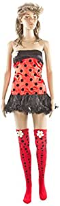 Carnaval, Women's Costume Sexy Ladybug, One Size, Red/Black