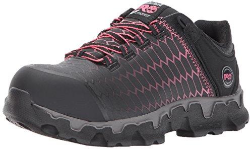 23955414b7afe Timberland PRO Women's Powertrain Sport Alloy Safety Toe Shoe,Black Raptek  With Pink,6 M US