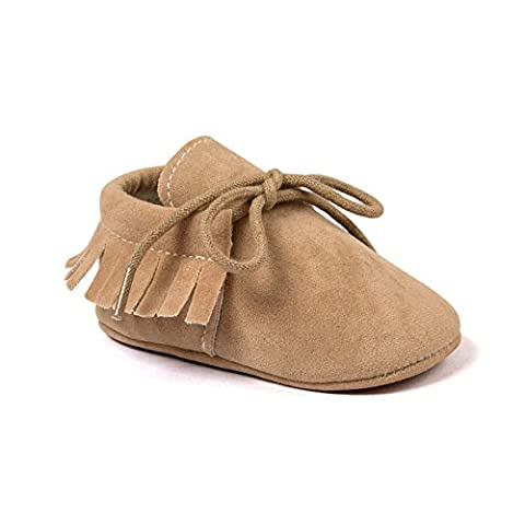 Auxma Baby Mädchen Junge Wiege-Quasten-weiche alleinige einzelne beiläufige Schuhe (12/6-12