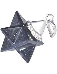 Azul Goldstone Merkaba Star colgante