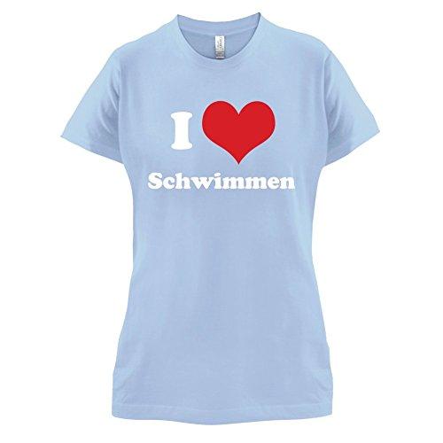 - Damen T-Shirt - Himmelblau - XL (Ping Pong Kostüm)