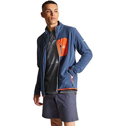 Dare 2b Devoir Herren Fleece-Jacke mit durchgehendem Reißverschluss, Stretch 3XL Meteor Grey Stretch-herren-fleece