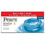 Pears Soft and Fresh Bathing Bar, 125g (Buy 3 Get 1 Free)