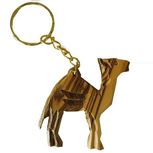 Olivenholz Olivenholz geschnitzt Camel Schlüssel Kette aus Bethlehem Israel (ow-kc-006) -