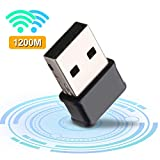 Gaoni Adattatore WiFi USB 1200Mbps Mini Dongle Wireless Dual Band 5.8GHz/2.4GHz USB 3.0, con 5dBi Antenna per PC/Desktop/Laptop/Mac, Supporto Windows XP/10/8/7/ Vista, Mac OS X 10.7-10.12