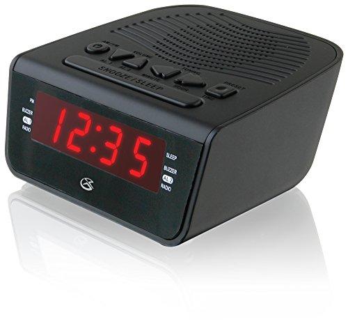 GPX c224b Dual Alarm Uhr am/fm Radio mit Rot LED Display (schwarz) - Ihome-radiowecker