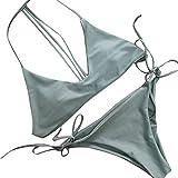 5ecc8575e0 LEvifun Bikini Set Donne Sexy, Sling Benda Push-up Halter Reggiseno  Imbottito Spiaggia Costumi