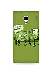 Amez designer printed 3d premium high quality back case cover for Xiaomi Redmi 1S (Funny Old Cassette)