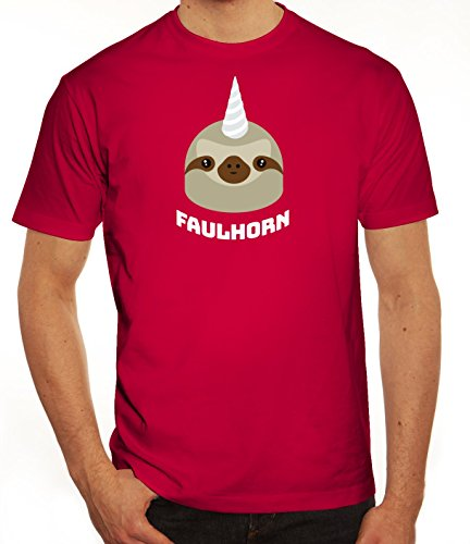 Einhorn Faultier Herren T-Shirt mit Faulhorn Motiv von ShirtStreet Sorbet