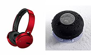 MIRZA Extra Bass XB 650 Headphones & Bluetooth Speaker for LG T375(XB 650 Headphones,With MIC,Extra Bass,Headset,Sports Headset,Wired Headset & Shower Speaker,Water Resistant,With MIC)