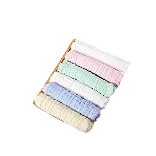 Salviettine per neonati kangcheng - salviettine per neonati morbide e soffici in cotone 5 pezzi salviette e asciugamani neonati in cotone morbido per bambini, viso e mani 10