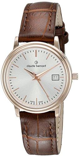 Claude Bernard Women's 54005 37R AIR Classic Ladies Analog Display Swiss Quartz Brown Watch