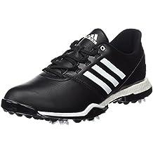 Adidas Tour360 Boost, Zapatillas de Golf Hombre, Blanco/Negro/Rojo, 44 EU (9.5 UK)
