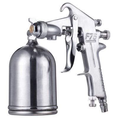 HaiMa Pistolet De Pulvérisation En Aluminium Haute Atomisation De Meubles De Pulvérisation De Voiture Outil Pneumatique-Argent 18,5 X 11,5 X 14Cm
