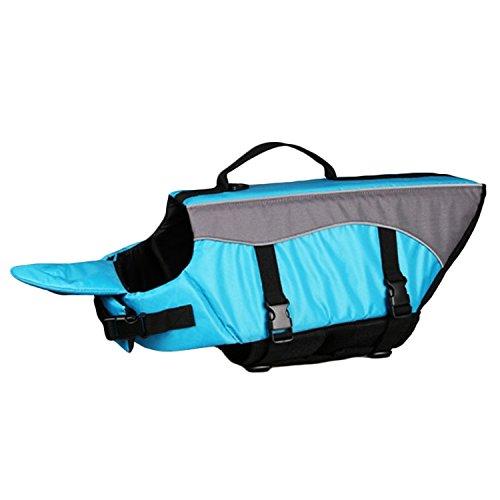 Hundeweste,BEETEST Hund Einstellbare Schnellverschluss Wasser Float Schwimmweste Jacke Saver Preserver für Pet Doggy Puppy Blau XL