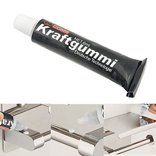 TianranRT♕ Falsa Abolladura,Nueva Producción de Pegamento Sin Clavos Rejilla de Suspensión de Plástico Sin Perforación de Pegamento,Negro