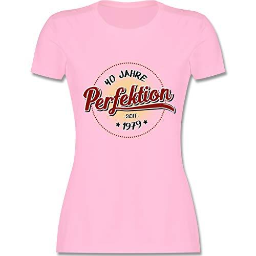 Geburtstag - 40 Jahre Perfektion seit 1979 - M - Rosa - L191 - Damen Tshirt und Frauen T-Shirt