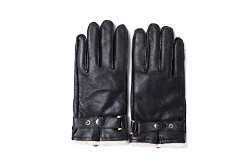 YISEVEN Herren Winter Handschuhe Hirschleder Lederhandschuhe mit wolle gefüttert