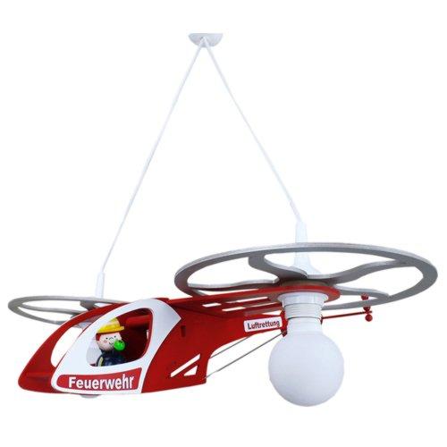 feuerwehrlampe Elobra Pendelleuchte Feuerwehr Helikopter, 2 flammig ELO-128145