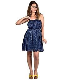 Thigh length ballon dress