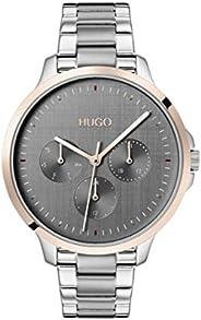 Hugo Boss Women's Grey Dial Stainless Steel Watch - 154