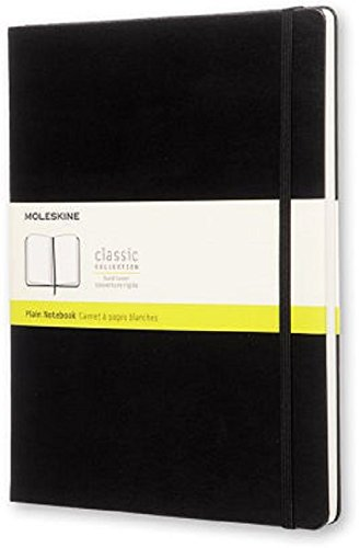 Moleskine Notizbuch, Groß, Blanko, Hard Cover, schwarz