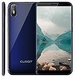 J5 CUBOT Smartphone Libre 2019 Android 9.0 Teléfono móvil 3G sin contactos Dual Sim + Ranura TF Card 5,5 Pulgadas 16GB ROM 2GB RAM Quad-Core Procesador WiFi GPS 2800mAh CUBOT Oficial Color Azul