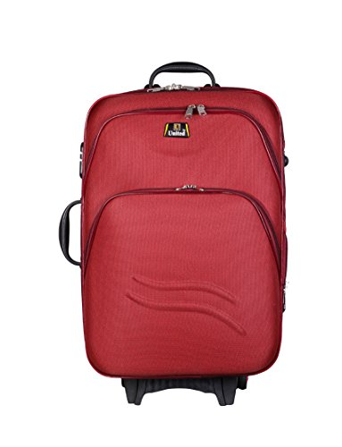 United Bag UTB040 Double Shell Sea Wave Trolley Bag - Medium(Red)  available at amazon for Rs.1999