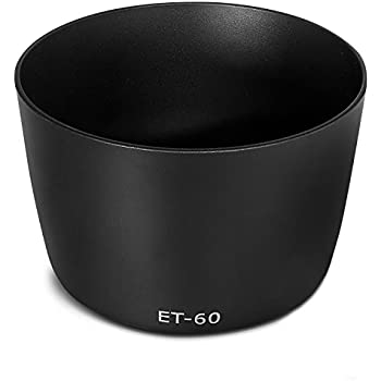 //3 BlueBeach/® ET-60 Replacement Lens Hood for Canon EF 75-300mm f//4.5-5.6//2 USM//2 USM//3 EF-S 55-200mm f//4.5-5.6 IS