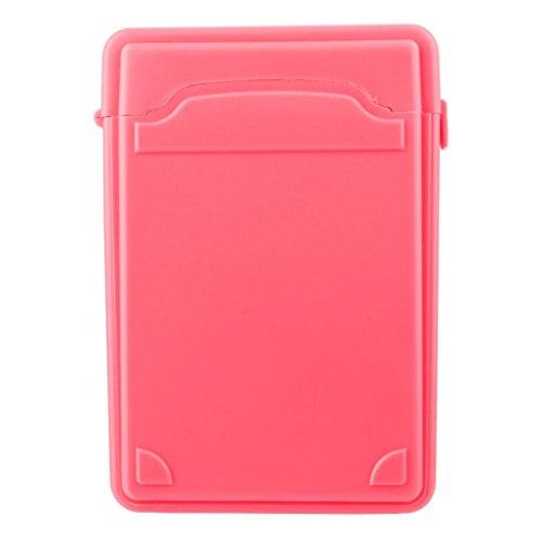 Fcostume Festplattengehäuse, stoßfest, antistatisch, 8,9 cm (3,5 Zoll) IDE/SATA Externe HDD-Aufbewahrungsboxen, Rose